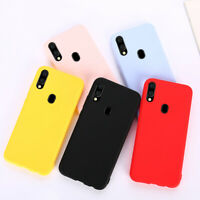 Solid Candy Color Silicone Case For Samsung Galaxy A50 A30 A40 A10 A20 A70 2019