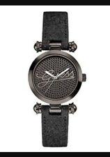 Guess U0057L4 Black Dial Black Glitter Leather Strap Women's Watch
