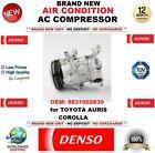 Denso Aire acondicionado CA Compresor OEM: 8831002830 para Toyota Auris Corolla
