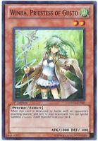 3 x Yu-Gi-Oh Card - HA05-EN040 - WINDA, PRIESTESS OF GUSTO (super rare holo) NM