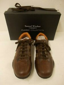 Samuel Windsor Hand Made Brown Leather Golf Shoes Size 8 with Additional Laces