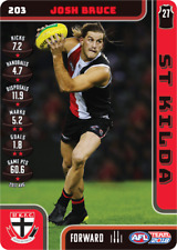 2018 TEAMCOACH ST KILDA JOSH BRUCE # 203 COMMON CARD AFL free post