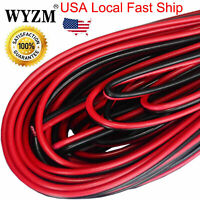 2PCS 20AWG Extension Cable Wire Cord 10m Stranded Tinned Copper 2 Wire Red&Black