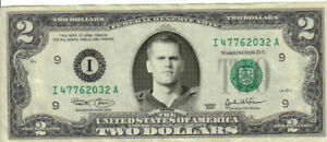 Tampa Bay Tom Brady $2 Dollar bill Mint real