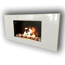 Gel fireplace Ethanol Fireplace Roma white incl. accessories & 20 Decostones