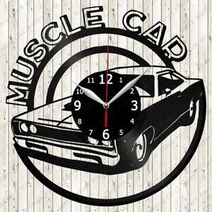 Muscle Car Vinyl Record Wall Clock Decor Handmade 6542