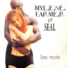 Mylène Farmer Et Seal ‎CD Single Les Mots - France (VG/VG)
