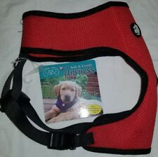 Fur Haven Dog Harness Extra Large 20 - 29lbs Red Black Soft & Comfy Lightweight