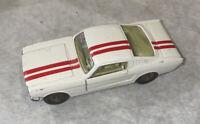 Rare Vintage Corgi Toys Ford Mustang Fastback 2+2 White Red Stripe Die-Cast