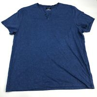Alfani T-Shirt Mens XXL Blue B-Neck Short Sleeve Casual