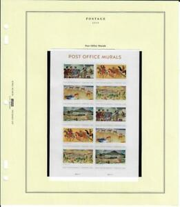 US SCOTT 5372 SHEET OF 10 POST OFFICE MURALS STAMPS FOREVER MNH