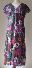 Gorgeous Ladies Boden Purple/Brown/BlueTones Dress Size 10 L  Great Condition