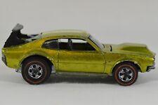 Vtg 1969 Hot Wheels Redline Mighty Maverick Metallic Lime Green RARE USA