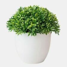 1pc Artificial Bonsai Plants Green Small Tree Garden Decor Fake Flower Potted