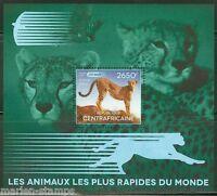 CENTRAL AFRICA  2014  FASTEST ANIMALS   SOUVENIR SHEET   MINT NH