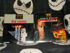 Die Hard 1 & 2 Die Harder Widescreen Laserdisc Ld Bruce Willis Free Ship $30
