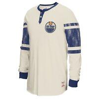 New Men's REEBOK CCM NHL EDMONTON OILERS HENLEY - M96671