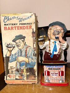 Vintage Charlie Weaver Battery Powered Bartender 1962 Roscoe Toy In box, Japan
