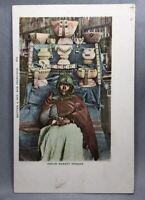 c 1905 INDIAN BASKET Vendor Undivided Postcard ANTQUE Native American