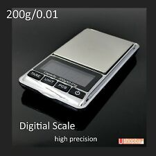 Pocket Digital Apothecary Herbal High Precision Scale 200gm Jewelry 200g/0.1