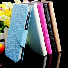 For BLU Vivo 5 Luxury Diamond Vein PU Leather Flip Wallet Case Cover