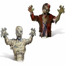 Mummy & Zombie 3-D Paper Centerpiece Set Zombie Halloween Party Decorations