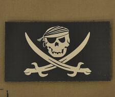 "IR Infrared Reflective Patch NVG ""Pirate Jolly Roger"" with VELCRO® brand hook"