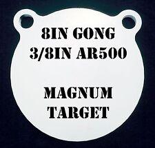 8in. AR500 Gong Shooting Target - 3/8 Thk. Rifle Target - 1pc. Steel Target Set