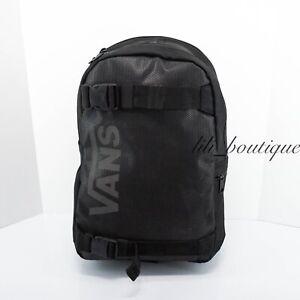 NWT Vans Unisex Essential Skateboard Pack Backpack Laptop Bag VN0A46NABLK Black