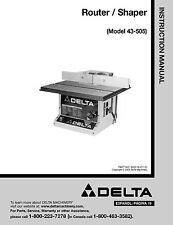 Delta Router/Shaper Manual , Model No. 43-505