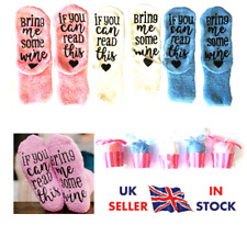 New Ladies Thermal Womens Winter Socks If You Can Read This Bring Me Wine