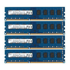 4x For SK Hynix 8GB 2RX8 PC3L-12800U DDR3 1600MHz 240pin DIMM RAM Desktop Memory