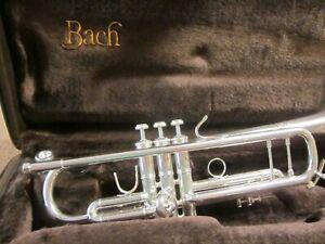 Bach Stradivarius model 37 silver trumpet w/ case !