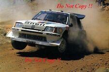 Juha Kankkunen Peugeot 205 Turbo 16 E2 Acropolis Rally 1986 Photograph 2