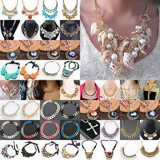 New Fashion Womens Pendant Long Chain Collar Bib Necklace Fashion Jewellery Gift