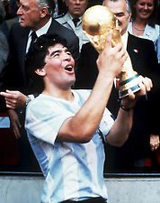 Diego Maradona - Holding World Cup, 8x10 Color Photo