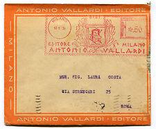BUSTA INTESTATA, ANNULLO ROSSO EDITORE A. VALLARDI MILANO, 1934     m