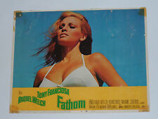 "VINTAGE 1967 RAQUEL WELCH FATHOM MOVIE POSTER! 14""x11"" TONY FRANCIOSA! ORIGINAL!"