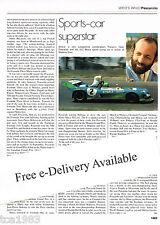 vintage HENRI PESCAROLO Racing Article/Picture/Photo: MATRA,