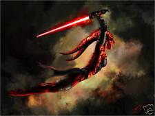Star Wars DARTH TALON ATTACKS Original 11x17 Art Print signed by Scott Harben