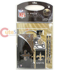 NFL New Orleans Saints Stationary Set 11pc School Study Vaule Kit Office Supply