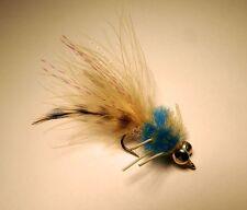 Merkin Permit Crab Blue  #8 saltwater flies Bonefish