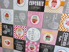 """WACHSTUCH ,""""Cupcakes"""" Tischdecke,Meterware,0,5 m x1,40 m,multicolor"""