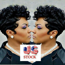 Female Hot Sales Synthetic Full Wigs Short Afro Curly Wave Hair Black Wigs US