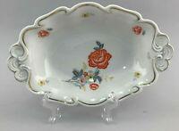 99840724 Porcelain Oval Kuchen-Platte Bowl Thuringia Floral Decoration