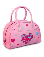 Children's Pink Retro Style Bowling Bag with Heart Design-Roch Valley RVLOVE