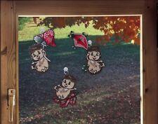 Fensterbilder 3er Set  für den Herbst LUSTIGE IGEL inkl. Saughaken