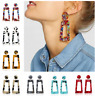 Women Geometric Acrylic Resin Ear Stud Earrings Dangle Drop Boho Holiday Jewelry