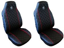 Front Seat Covers for BMW 1 , 3 , 5 series X3, X5 Black with RED PIPING