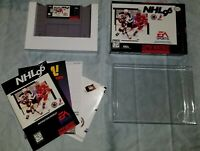 NHL 96 (Super Nintendo Entertainment System, 1995) Complete Box manual Poster